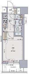 Osaka Metro千日前線 阿波座駅 徒歩6分の賃貸マンション 12階1Kの間取り