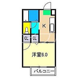 シャーメゾン和 B棟[2階]の間取り