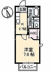 JR高徳線 阿波川端駅 徒歩37分の賃貸アパート 1階1Kの間取り