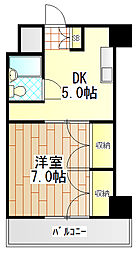 神奈川県伊勢原市伊勢原2丁目の賃貸マンションの間取り