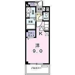 メゾン・クレール[3階]の間取り