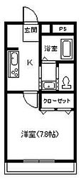 デラシャンス[1階]の間取り