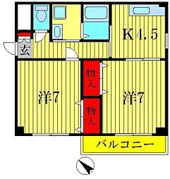 サンハイム四つ木[3階]の間取り