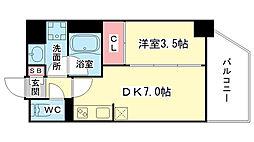 東京都台東区柳橋の賃貸マンションの間取り
