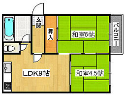 長谷川マンション[3階]の間取り