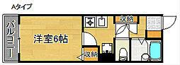 アライブ滝本[2階]の間取り