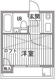 エスポアール代田橋[102号室]の間取り