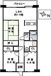 金剛アーバンコンフォート[8階]の間取り