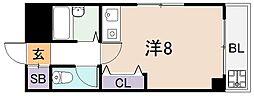 シャトーアンビシャス[1階]の間取り