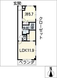 Surry−MA[4階]の間取り