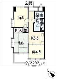 コスモアーバン[2階]の間取り