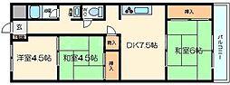 ノルデンハイム柴島 2階3DKの間取り