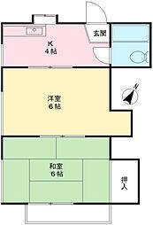 三内ハウス[205号室]の間取り