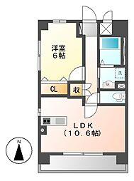 (仮称)岩塚本通1丁目マンション[4階]の間取り