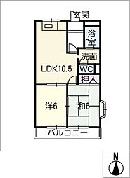 ベジタブルハイム[2階]の間取り