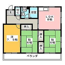 甲子ハイツ[3階]の間取り