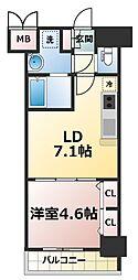 スプランディッド新大阪キャトル[14階]の間取り