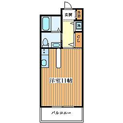 ルナコート塚本[1004号室]の間取り