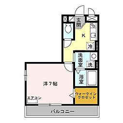 トレビナ北戸田[305号室]の間取り