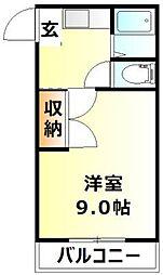 岡山県岡山市北区東花尻の賃貸マンションの間取り