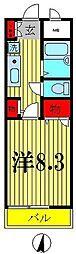 グランバリエ北小金II[2階]の間取り