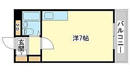 カルム白鷺[5階]の間取り