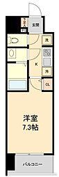 仙台市営南北線 広瀬通駅 徒歩4分の賃貸マンション 2階1Kの間取り
