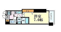 Luxe難波西II 6階1Kの間取り