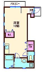 神奈川県横浜市神奈川区平川町の賃貸アパートの間取り