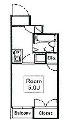 サンケンパレス東伏見[2階]の間取り