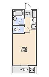 コーポ青木[203号室号室]の間取り
