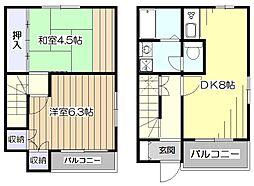 [テラスハウス] 東京都東村山市本町1丁目 の賃貸【/】の間取り