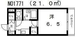 グランヴィ天王寺[406号室号室]の間取り