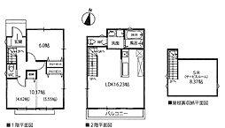 [一戸建] 東京都小平市仲町 の賃貸【/】の間取り