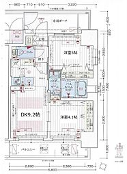 エステムコート阿波座プレミアム[8階]の間取り
