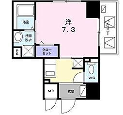 東京メトロ銀座線 三越前駅 徒歩8分の賃貸マンション 4階1Kの間取り