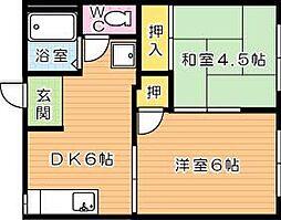 アパートメントいしだ[1階]の間取り