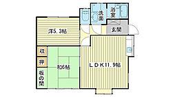 [一戸建] 兵庫県姫路市中地 の賃貸【兵庫県 / 姫路市】の間取り