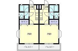 コーポ・M2[102号室]の間取り