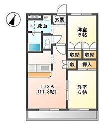 カンタベリー[2階]の間取り
