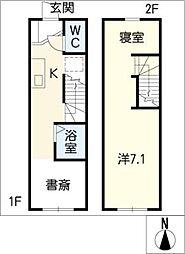 [タウンハウス] 愛知県豊田市上野町3丁目 の賃貸【/】の間取り