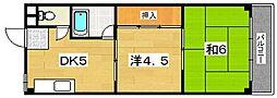 奥村マンション[3階]の間取り