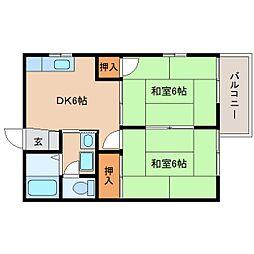 静岡県静岡市葵区新伝馬の賃貸アパートの間取り