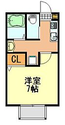 j-square稲毛[2階]の間取り