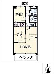 メゾンドヨサミA[2階]の間取り