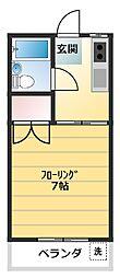 ユーハイツNO.1[102号室]の間取り