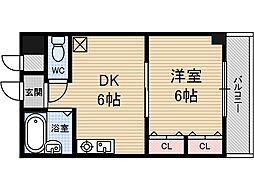茨木ロイヤル[2階]の間取り