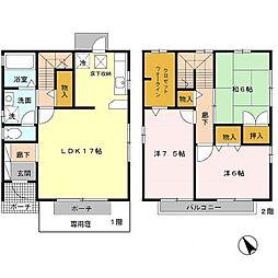 [テラスハウス] 兵庫県神戸市西区白水1丁目 の賃貸【/】の間取り