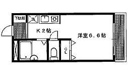 アメニティ岩倉[201号室号室]の間取り