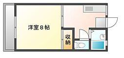 岡山県岡山市北区大安寺中町の賃貸アパートの間取り